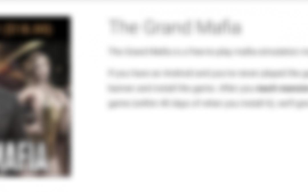 "Earn $18 Playing ""The Grand Mafia"" (Guide)"